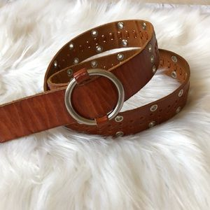 Abercrombie &Fitch Brown Leather cowgirl belt sz M